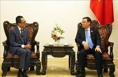 越南政府副总理王廷惠会见太平洋世纪集团总裁李泽楷