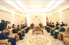 越南人民军总参谋长会见柬埔寨皇家武装部队副总司令