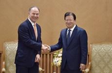 政府副总理郑廷勇会见美国公司总经理斯科特