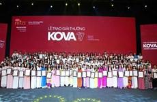150个个人和集体荣获科瓦奖