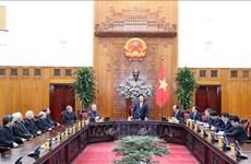越南政府总理阮春福会见越南主教理事会代表团