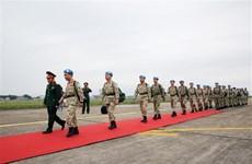 越南二号二级野战医院医疗队第一小组近日启程赴南苏丹执行任务