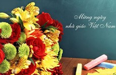 外教在越南过教师节   获得具有意义的体验