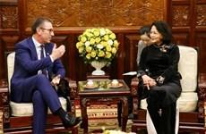 越南国家副主席会见爱尔兰全球风能与太阳能公司执行总裁