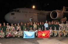 越南首批赴南苏丹维和部队医疗分队官兵完成任务凯旋归来