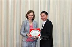 胡志明市领导会见奥地利联邦商会代表团