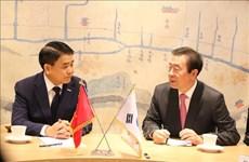 河内市代表团对韩国进行工作访问