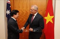 越南政府副总理郑廷勇对澳大利亚进行工作访问