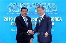 东盟-韩国峰会:韩国和菲律宾领导人同意促进自由贸易协定谈判