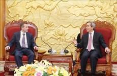 越共中央经济部部长会见国际经济合作银行领导