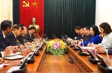 河内市委将为河内与老挝万象各项合作承诺具体化创造便利条件