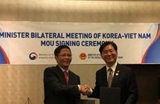 越韩同意促进经贸投资合作