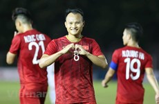 越南队战胜老挝队并保持B组头名