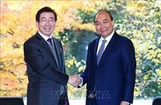 越南政府总理阮春福会见韩国首尔市市长