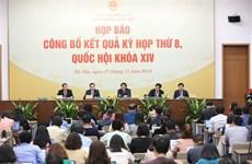 圆满完成第十四届国会第八次会议各项议程