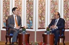 越南政府总理阮春福会见三星集团副总裁李在镕