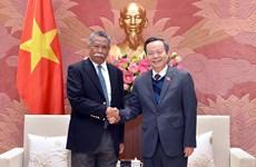 国会副主席冯国显会见亚洲生产力组织秘书长