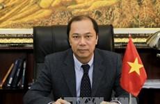 越南外交部副部长阮国勇就阮春福访韩接受越通社记者采访