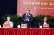 政府总理阮春福在海防市开展接待选民活动