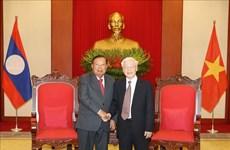 越南领导人致电祝贺老挝国庆44周年