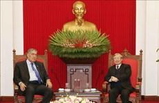 陈国旺会见多米尼加统一左派运动党秘书长