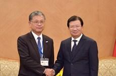 政府副总理郑廷勇会见日本人民外交促进会代表团