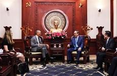 胡志明市市委书记阮善仁会见美国前总统奥巴马