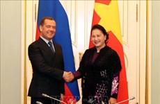 越南国会主席阮氏金银会见俄罗斯总理