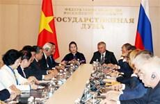 越南国会主席同俄罗斯国家杜马主席出席越俄议会间合作委员会首次会议