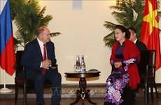 越南国会主席阮氏金银会见俄罗斯共产党领导人