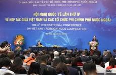 越南与外国非政府组织合作第四次国际会议开幕