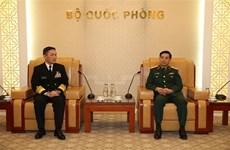 越南人民军总参谋总长潘文江会见日本海上自卫队司令山村弘史