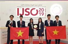 越南学生代表团在2019年IJSO竞赛中荣获3枚金牌和3枚银牌
