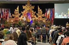 越南驻印尼大使馆参加在雅加达举行的国际慈善义卖活动