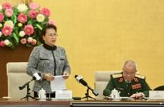 越南国会主席阮氏金银会见特工部队老兵