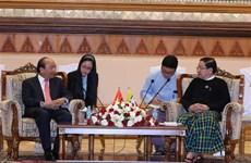 政府总理阮春福会见缅甸联邦议会议长吴帝昆秒