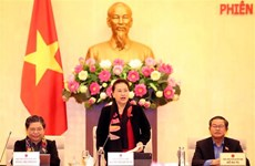 越南第十四届国会常委会第四十次会议落下帷幕