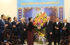 2019年圣诞节来临之际:国会主席阮氏金银造访越南天主教团结委员会
