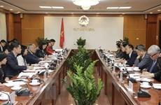 越韩力争实现双边贸易额达1000亿美元的目标