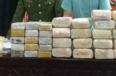 乂安省:查获一起贩卖毒品案 缴获18公斤冰毒和30块海洛因砖