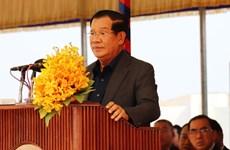 由越南援建的柬埔寨首座模范边境集市竣工 柬首相洪森出席
