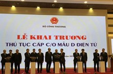 越南出口商品原产地电子证书签发手续正式亮相