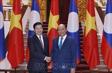 老挝总理访问越南并与越方共同主持越老政府间联合委员会第42次会议