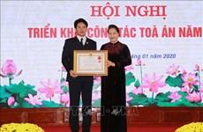 越南国会主席阮氏金银出席出席越南最高人民法院2020年工作部署会议