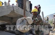 越南政府领导人就柬一楼房坍塌事故向柬领导人致慰问电