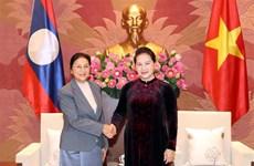 越南国会主席阮氏金银会见老挝国会主席巴尼·亚陶都