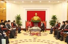 越共中央组织部部长范明正会见日本内阁总务大臣高市早苗