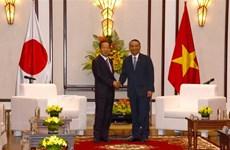 日本自由民主党秘书长二阶俊博访问越南岘港市