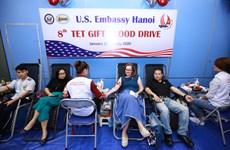 美国驻越南大使馆举行第八次无偿献血活动