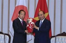 越南政府总理阮春福会见日本自由民主党秘书长、日越友好议员小组主席二阶俊博